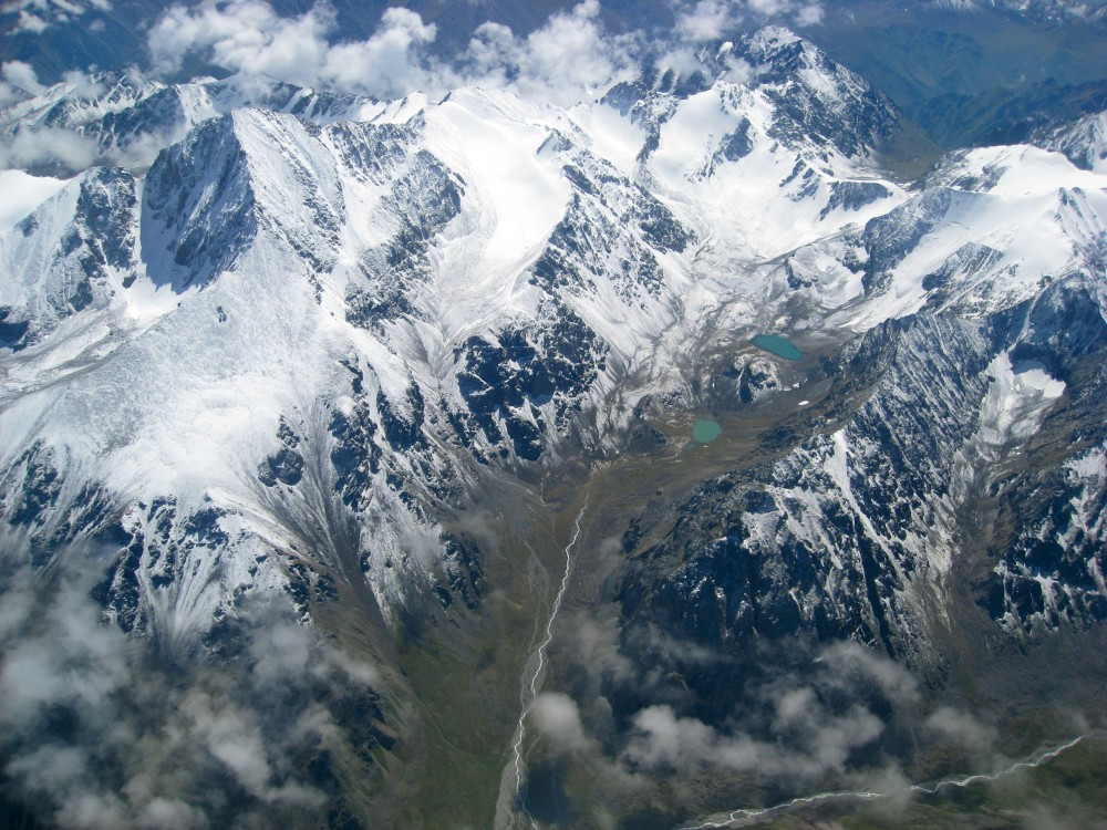 Tian Shan From The Air